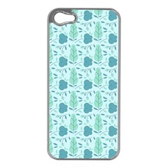 Seamless Floral Background  Apple Iphone 5 Case (silver) by TastefulDesigns