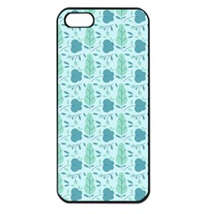 Seamless Floral Background  Apple Iphone 5 Seamless Case (black)