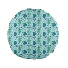 Seamless Floral Background  Standard 15  Premium Round Cushions