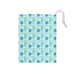 Seamless Floral Background  Drawstring Pouches (medium)