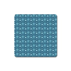 Seamless Floral Background  Square Magnet