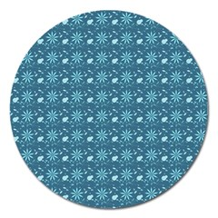 Seamless Floral Background  Magnet 5  (round)