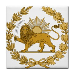 Lion & Sun Emblem Of Persia (iran) Tile Coasters by abbeyz71