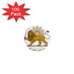 Lion & Sun Emblem Of Persia (iran) 1  Mini Magnets (100 Pack)  by abbeyz71