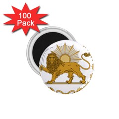 Lion & Sun Emblem Of Persia (iran) 1 75  Magnets (100 Pack)  by abbeyz71
