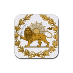 Lion & Sun Emblem Of Persia (iran) Rubber Square Coaster (4 Pack)  by abbeyz71