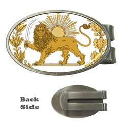 Lion & Sun Emblem Of Persia (iran) Money Clips (oval)  by abbeyz71