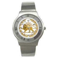 Lion & Sun Emblem Of Persia (iran) Stainless Steel Watch by abbeyz71