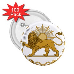 Lion & Sun Emblem Of Persia (iran) 2 25  Buttons (100 Pack)  by abbeyz71