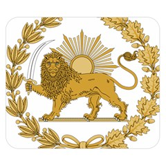 Lion & Sun Emblem Of Persia (iran) Double Sided Flano Blanket (small)  by abbeyz71