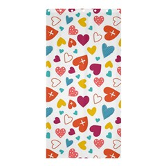 Colorful Bright Hearts Pattern Shower Curtain 36  X 72  (stall)  by TastefulDesigns