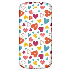 Colorful Bright Hearts Pattern Samsung Galaxy S3 S Iii Classic Hardshell Back Case