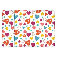 Colorful Bright Hearts Pattern Samsung Galaxy Tab 8 9  P7300 Flip Case