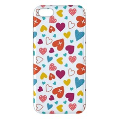 Colorful Bright Hearts Pattern Iphone 5s/ Se Premium Hardshell Case by TastefulDesigns