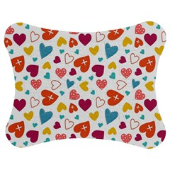 Colorful Bright Hearts Pattern Jigsaw Puzzle Photo Stand (bow) by TastefulDesigns
