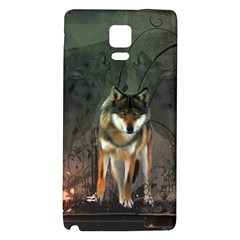Awesome Wolf In The Night Galaxy Note 4 Back Case by FantasyWorld7