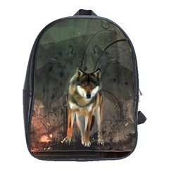 Awesome Wolf In The Night School Bags (xl)  by FantasyWorld7