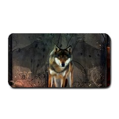 Awesome Wolf In The Night Medium Bar Mats by FantasyWorld7