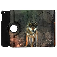 Awesome Wolf In The Night Apple Ipad Mini Flip 360 Case by FantasyWorld7