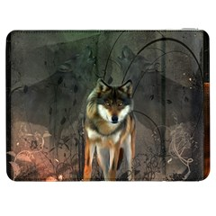 Awesome Wolf In The Night Samsung Galaxy Tab 7  P1000 Flip Case by FantasyWorld7