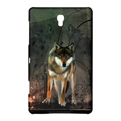 Awesome Wolf In The Night Samsung Galaxy Tab S (8 4 ) Hardshell Case  by FantasyWorld7