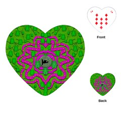 Vegetarian Art With Pasta And Fish Playing Cards (heart)  by pepitasart