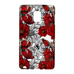 Hand Drawn Red Flowers Pattern Galaxy Note Edge by TastefulDesigns