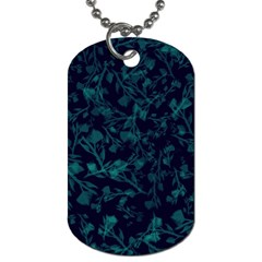 Leaf Pattern Dog Tag (two Sides)