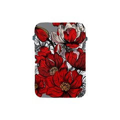 Red Flowers Pattern Apple Ipad Mini Protective Soft Cases by TastefulDesigns