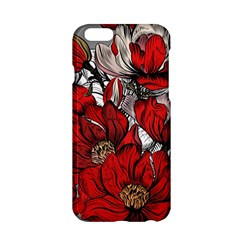 Red Flowers Pattern Apple Iphone 6/6s Hardshell Case by TastefulDesigns