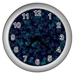 Leaf Pattern Wall Clocks (silver)  by berwies