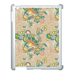 Hand Drawn Batik Floral Pattern Apple Ipad 3/4 Case (white) by TastefulDesigns