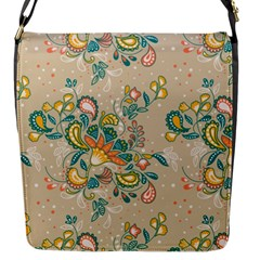 Hand Drawn Batik Floral Pattern Flap Messenger Bag (s) by TastefulDesigns