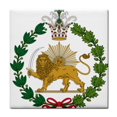 Imperial Coat Of Arms Of Persia (iran), 1907 1925 Tile Coasters by abbeyz71