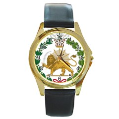Imperial Coat Of Arms Of Persia (iran), 1907 1925 Round Gold Metal Watch by abbeyz71