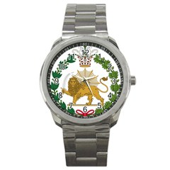Imperial Coat Of Arms Of Persia (iran), 1907 1925 Sport Metal Watch by abbeyz71