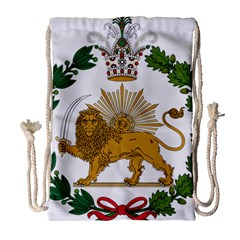 Imperial Coat Of Arms Of Persia (iran), 1907 1925 Drawstring Bag (large) by abbeyz71