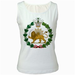 Imperial Coat Of Arms Of Persia (iran), 1907 1925 Women s White Tank Top by abbeyz71
