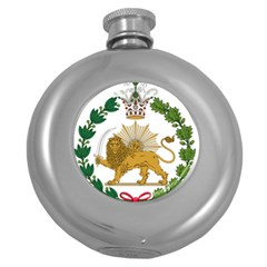 Imperial Coat Of Arms Of Persia (iran), 1907 1925 Round Hip Flask (5 Oz) by abbeyz71