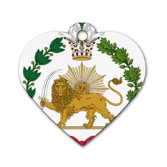 Imperial Coat Of Arms Of Persia (iran), 1907 1925 Dog Tag Heart (two Sides) by abbeyz71