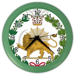 Imperial Coat Of Arms Of Persia (iran), 1907 1925 Color Wall Clocks by abbeyz71