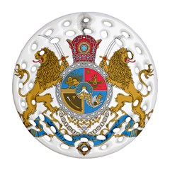 Sovereign Coat Of Arms Of Iran (order Of Pahlavi), 1932 1979 Round Filigree Ornament (two Sides) by abbeyz71