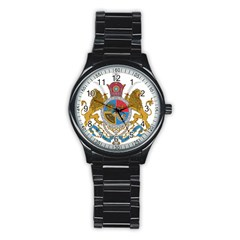Sovereign Coat Of Arms Of Iran (order Of Pahlavi), 1932 1979 Stainless Steel Round Watch by abbeyz71