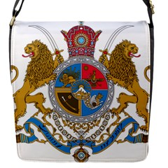 Sovereign Coat Of Arms Of Iran (order Of Pahlavi), 1932 1979 Flap Messenger Bag (s) by abbeyz71