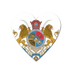 Sovereign Coat Of Arms Of Iran (order Of Pahlavi), 1932 1979 Heart Magnet by abbeyz71