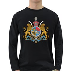 Sovereign Coat Of Arms Of Iran (order Of Pahlavi), 1932 1979 Long Sleeve Dark T Shirts by abbeyz71