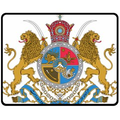 Sovereign Coat Of Arms Of Iran (order Of Pahlavi), 1932 1979 Fleece Blanket (medium)  by abbeyz71
