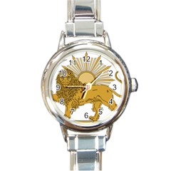 National Emblem Of Iran, Provisional Government Of Iran, 1979-1980 Round Italian Charm Watch by abbeyz71