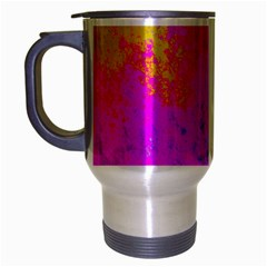 Grunge Radial Gradients Red Yellow Pink Cyan Green Travel Mug (silver Gray) by EDDArt