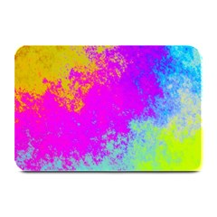 Grunge Radial Gradients Red Yellow Pink Cyan Green Plate Mats by EDDArt